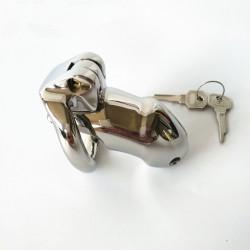 Męski stalowy pas cnoty z zapięciem na klucz rozmiar S