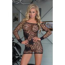 Sukienka mini z długim rękawem - Sweetheart - Black