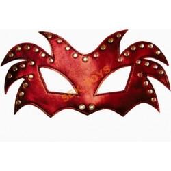 Czerwona maska na oczy z otworami