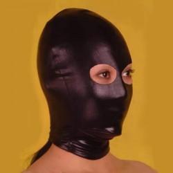 Czarna maska BDSM z otworem na oczy