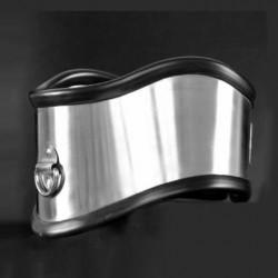Metalowa obroża typu posture z obiciem gumowym