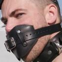 Knebel skórzany typu kulka BDSM